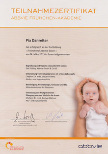 Kinderarzt-Praxis Teilnahmezertifikat Früchen