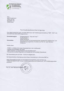Teilnahmebescheinigung DMP Asthma / KHK