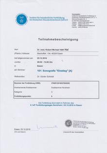 Zertifikat Sonografie