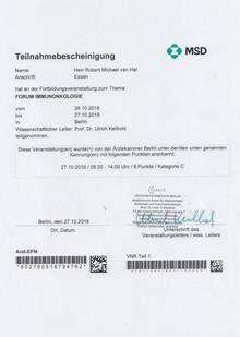 Zertifikat Immunonkologie